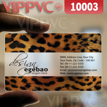 10003 free business cards - matte faces transparent card thin 0.36mm