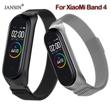 Mi band 4 Magnetic Milanese Loop Strap For Xiaomi Mi Band 4 Stainless Steel Replacement Wristband For Xiaomi Miband 4 Strap xiaomi mi band 4