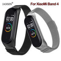 Mi band 4 Magnetic Milanese Loop Strap For Xiaomi Mi Band 4 Stainless Steel Replacement Wristband For Xiaomi Miband 4 Strap