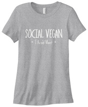 "Women's ""Social Vegan"" shirt"