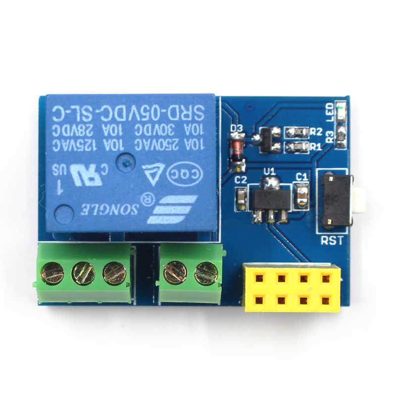 ESP8266 ESP-01S 5 Wifi リレーモジュールものスマートホームのリモートコントロールスイッチ電話アプリ ESP01 ESP-01 ワイヤレス無線 Lan モジュール