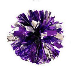 Silver purple Small cheer pom poms 5c64fbbde3eae