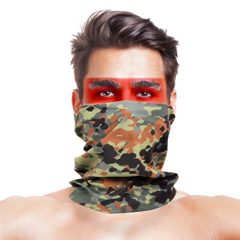 High-Jump Multicamo Hunting Headwear 100% Polyester Mouth Neck Face Mask CS Wargame Army Airsoft Shooting Bandana Hunting Wear