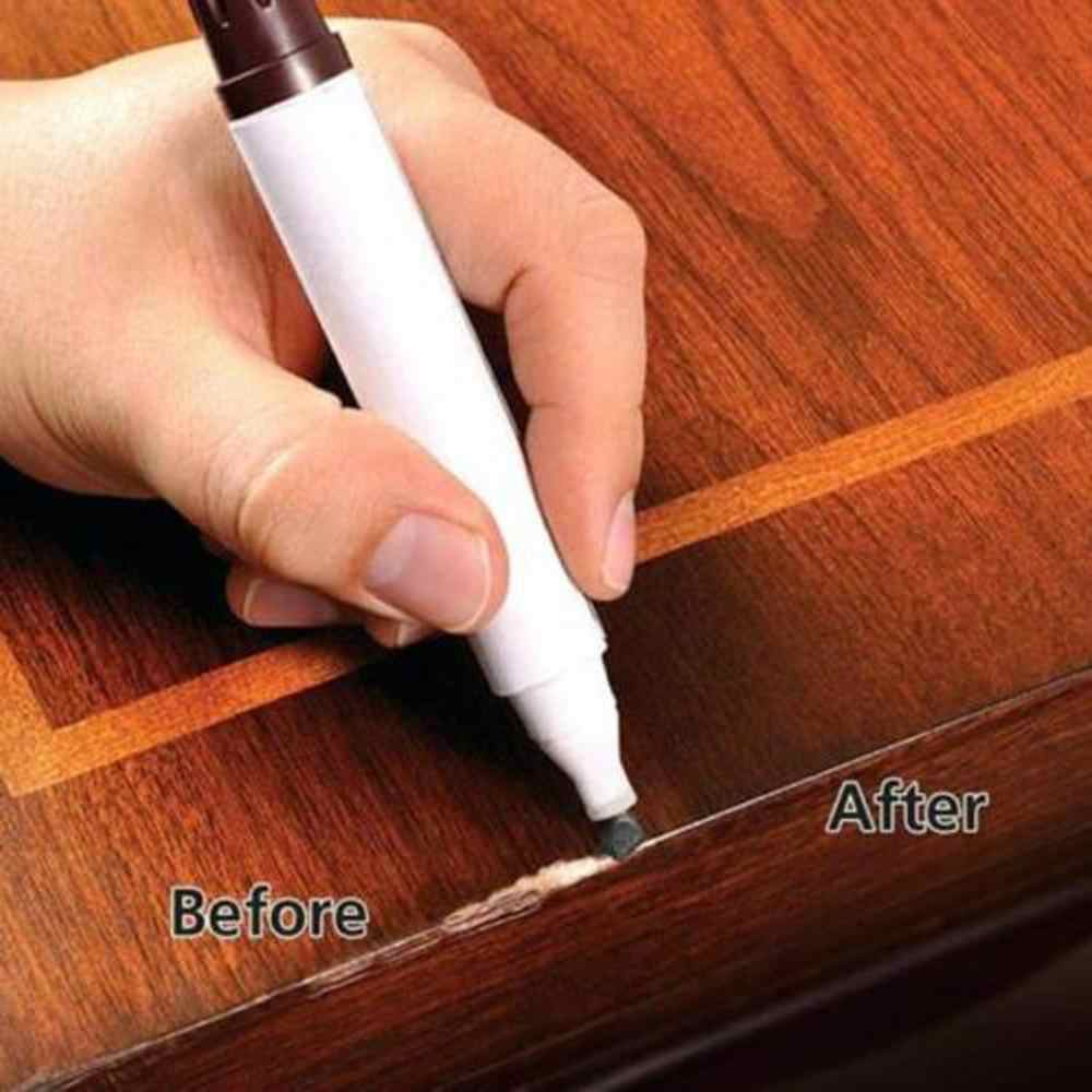 1Pcs Wood Furniture Repair Pen Markers Scratch Filler Paint Remover For Wooden Cabinet Floor Tables Chairs Fill paint pen 4lz