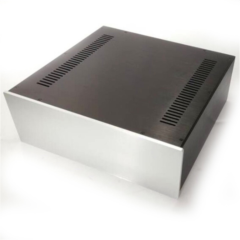 цена 4315c Full aluminum chassis Preamplifier box Power amplifier case size 430*150*408MM
