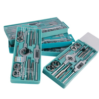 EVANX 12PCS 20PCS Tap Die Set Metric Inch Screw Thread Tap With Adjustable Tap Wrench Hand
