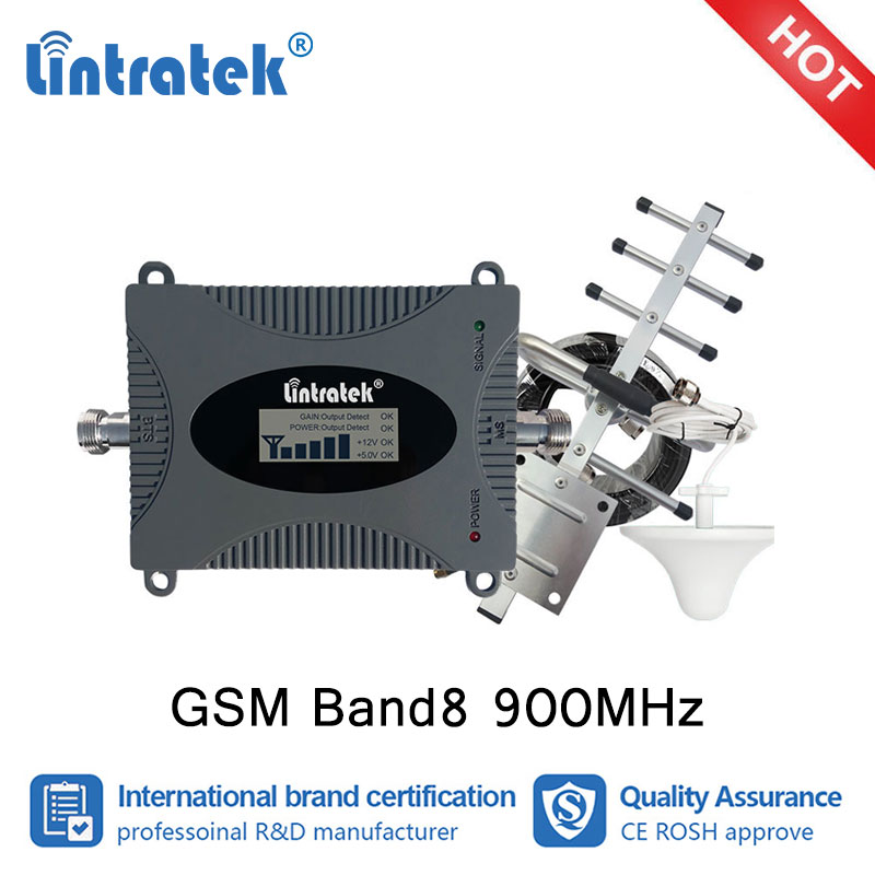 Lintratek 900MHz GSM Cellular Booster Signal GSM Repeater 900 Cell Phone cell payload Antenna 10m communication