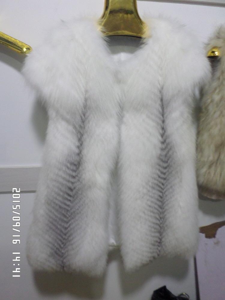 Gilet Croix De Linhaoshengyue Fourrure Longueur Renard 80 Cm IPIHSqwA