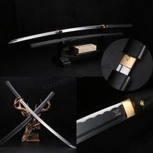 Handmade 1045 Carbon Steel Samurai Black Coccinella Septempunctata Sword Katana Sharp Edge