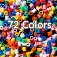 500G 2.6MM Hama/Perler Beads DIY Craft Fuse Mini 3D Perler Beads For Pegboard EVA Hama Puzzle Toys For Kids 500G 46000PCS 2.6MM
