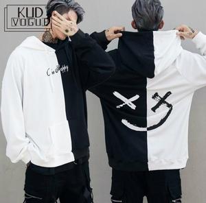 USA Men Hoodies Sweatshirts Smile Print Headwear Hoodie Hip Hop Streetwear Clothing Us Size S-XL Moletom Palace Bape Trasher 23(China)