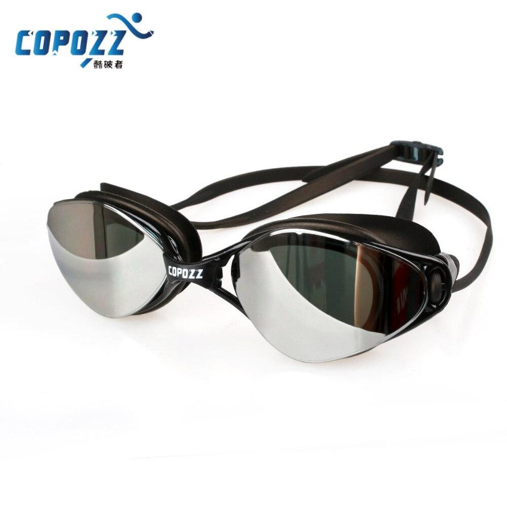 Gafas de natación profesional a estrenar Anti-niebla UV ajustable chapado hombres mujeres impermeables gafas de silicona para adultos