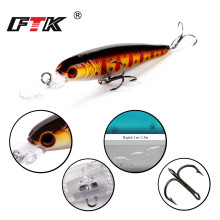 Купить с кэшбэком FTK Floating Minnow Hard Fishing Lure 1pcs/lot 75mm 8g Aritificial Wobblers Assorted colors quality Fishing Crankbait