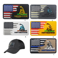 3D Dont step on the snake Flag PVC Patch Military Snake Morale Tactical Badges Rubber Flags Combat Patches Drop Shipping