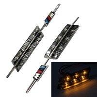 1Pair Silver SMOKED AMBER LED SIDE Marker LAMPS FOR BMW E81 E88 E90 E92 E60