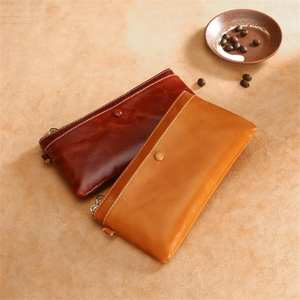 100% Genuine Leather Wallet Women 2019 Vintage Style Luxury Card Holder Long Purse Phone Bag Portefeuille Femme Clutch Bags