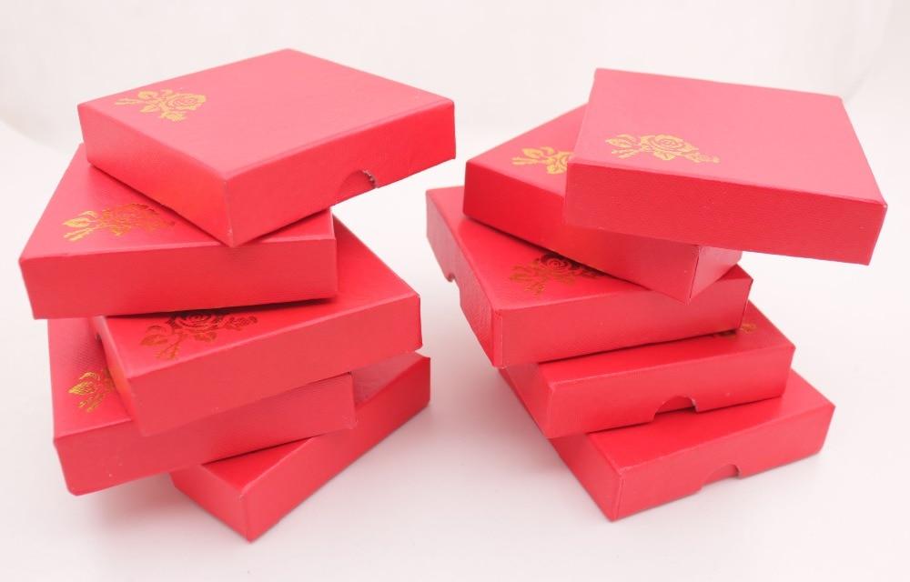 "Купить с кэшбэком Lot 18 PCS Red Jewelry Box White Silk Cloth Bracelet Display  9cm 3.5""  Handmade"