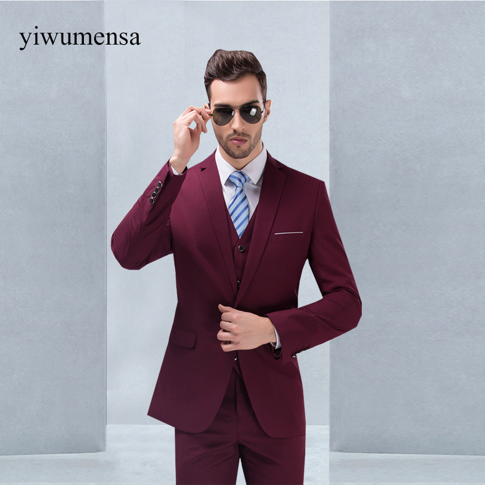 yiwumensa costume mariage homme three piece suit high end. Black Bedroom Furniture Sets. Home Design Ideas