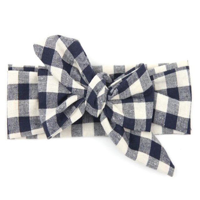 Vintage Plaid Baby Girls Headband Girls Boutique Headband Shabby Chic Rural  DIY Baby Bow Headband Top Knot Turban Headband b9fc58be6e0