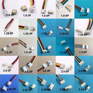 10 sets 1.0mm 1.25mm 1.5mm 2.0 2.54mm 2PIN /3/4/5/6/12P Pin Male & Female PCB Connector SH JST ZH PH XH 2 Pin(China)