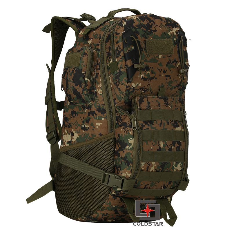 Woodland Digital Camo Military Tactics Mountaineering Backpack Wear  resistant 800D Oxford Hiking Bag Outdoor Sports Bag-in Climbing Bags from  Sports ... d16ff3024