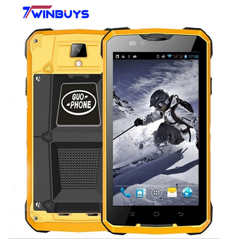 GUOPHONE V12 Smartphone waterproof shockproof 4000mah 5.0 inch Android 4.4 GPS MTK6572 Dual Core 5MP outdoor 3G WCDMA Cellphones