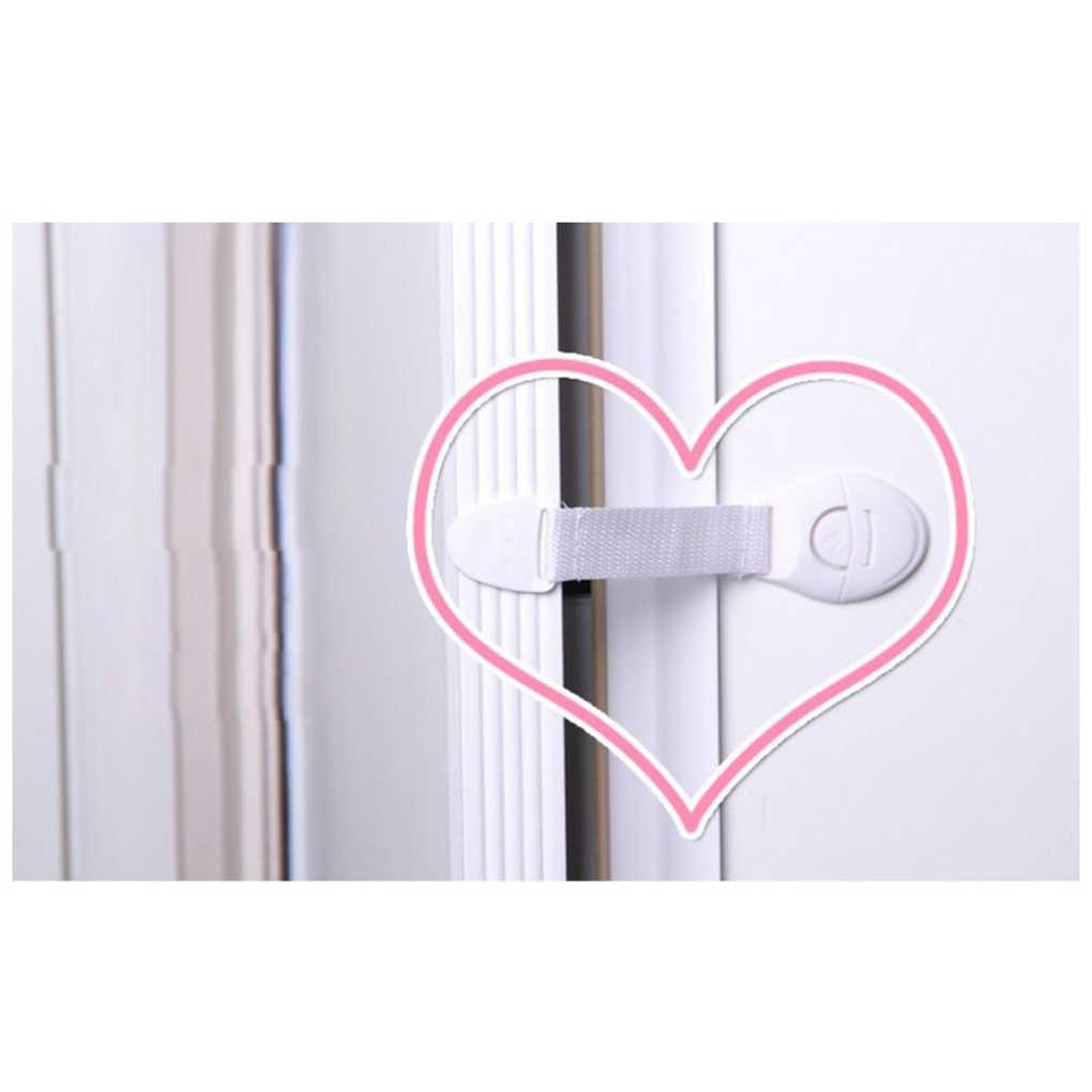 1/3/4/5 ชิ้นความปลอดภัยพลาสติกเด็กล็อคประตูตู้ลิ้นชักตู้เย็น Blockers เด็กล็อคความปลอดภัยเด็กสายคล้อง
