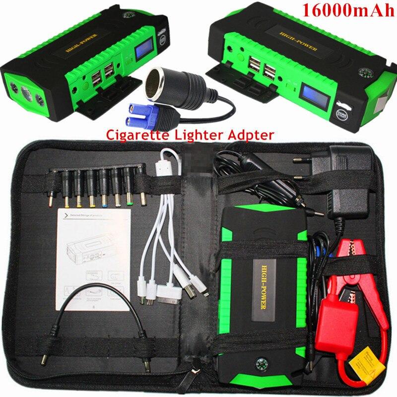 Car Jump <font><b>Starter</b></font> 600A Pack Portable Starting Device 4USB Power Bank Charger For Car Battery Booster Petrol Diesel 12V <font><b>Starter</b></font> CE