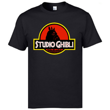 Jurassic Studio Park Tshirt Totoro Ghibli Miyazaki Spirited Away Mens Cheap Funny Tops & Tees Round Neck 100% Cotton T-Shirt