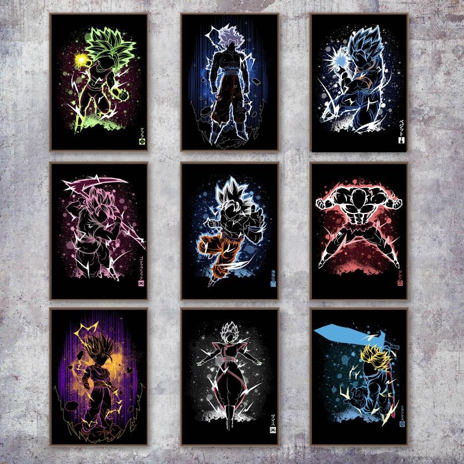 Dragon-Ball-Super-Son-Goku-Black-Vegeta-Anime-Poster-And-Print-Wall-Art-Canvas-Painting-Wall