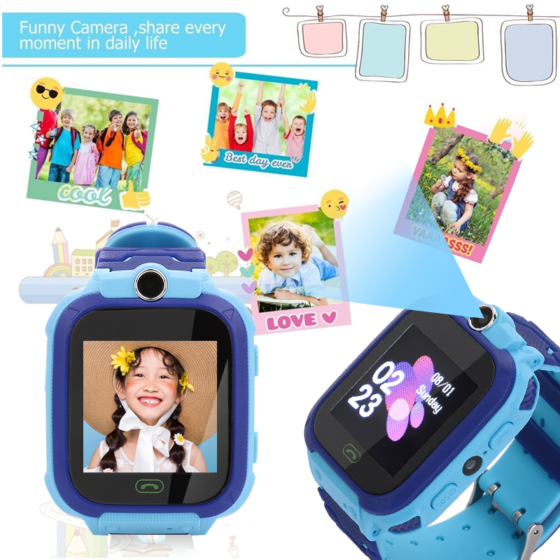 Image 4 - S12 Child Smart Watch IP67 Waterproof Children SOS Call Location Finder Smartwatch Intelligent Photo Taking Baby Phone Watch-in Smart Watches from Consumer Electronics