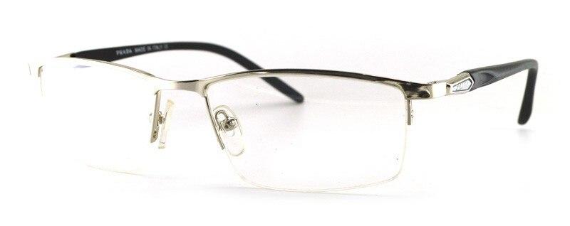 2016 הגעה חדשה מתכת אופטי מסגרות משקפיים חצי מסגרת גברים אופנה מרשם למשקפי מסגרת P9856