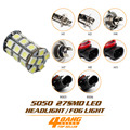 Promotion!!! 1/2/4pcs Car-Styling 5050 27 SMD LED Lamp H1 H3 H4 H7 H11 9005 9006 Bulb Super Bright Headlight Fog Light