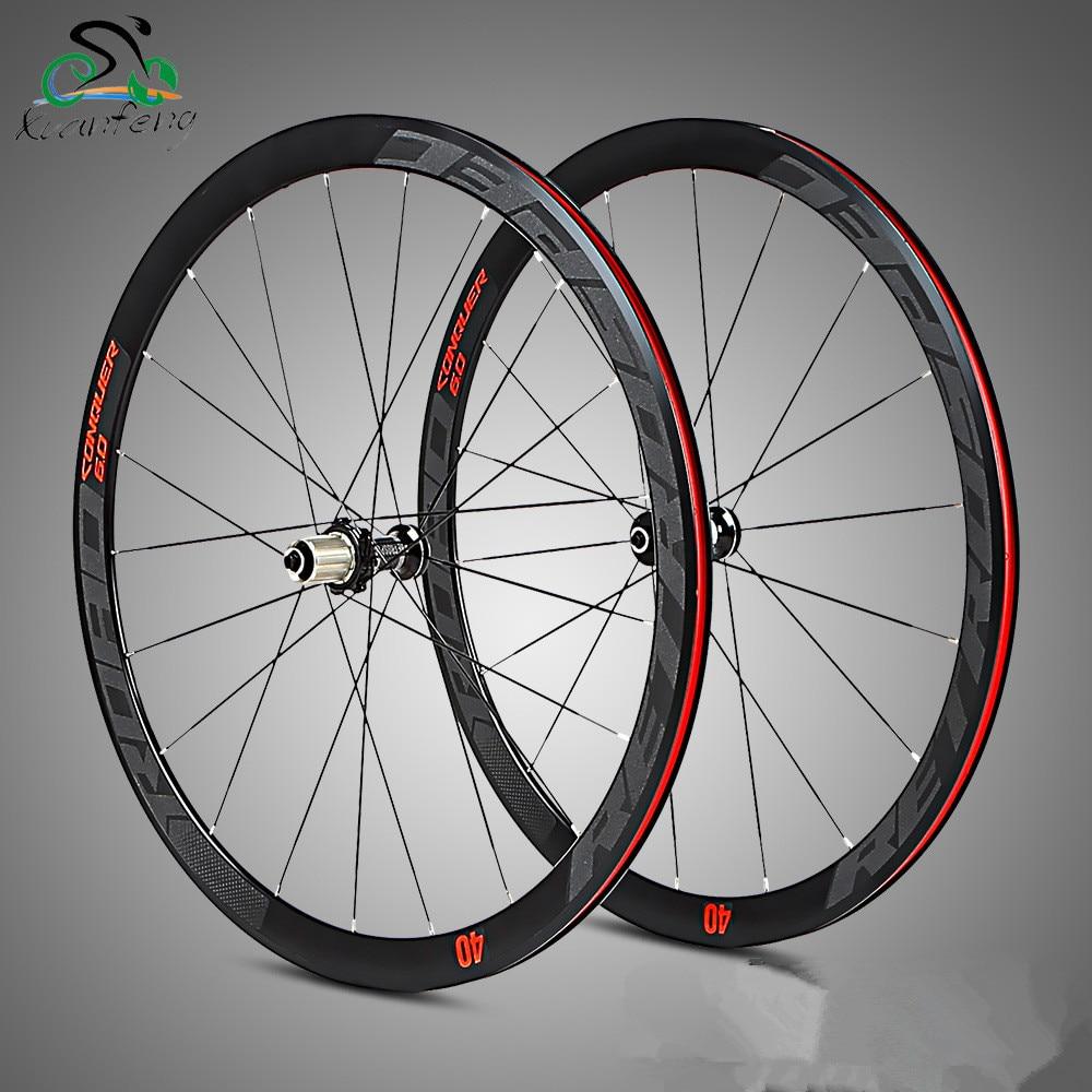 High Quality 700C 40mm Aluminium Alloy 4 Bearing Wheels bmx Road Bicycle Wheel Road Wheelset Bicycle