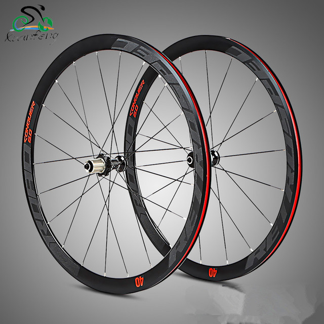 High Quality 700C/40mm Aluminium Alloy 4 Bearing Wheels bmx Road Bicycle Wheel Road Wheelset Bicycle Wheels