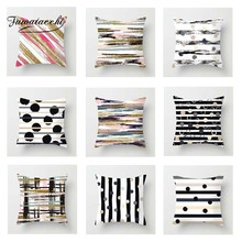 Fuwatacchi Geometric Cushion Cover Striped Colorful   Soft Throw Pillow Cover Decorative Sofa Pillow Case Pillowcase цены