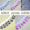 3D 1 Sheet / lot 108 unids uñas pegatinas en relieve de flores diseño del arte del clavo Tips pegatinas hoja de manicura alta calidad