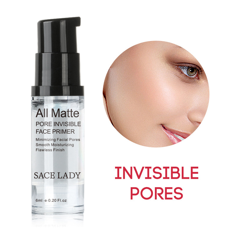 SACE LADY Face Pores Hydrating Makeup Base Primer Liquid Natural Moisturizer Whitening Cosmetic Long Lasting Facial Makeup TSLM1 maxfasfer base makeup foundation liquid primer moisturizer waterproof whitening concealer brighten matte long lasting cosmetic