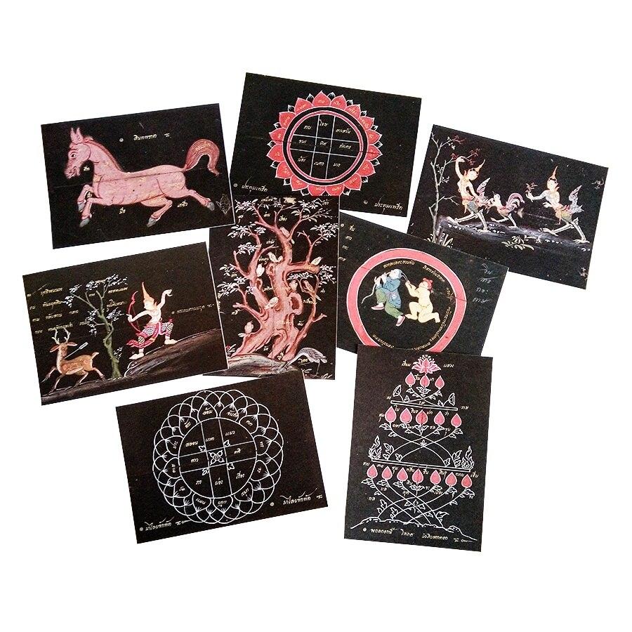 16 Pcs/lot DIY Retro Black Kraft Paper Postcard Novelty Paper Greeting Cards Fairy Tale Students Business Card