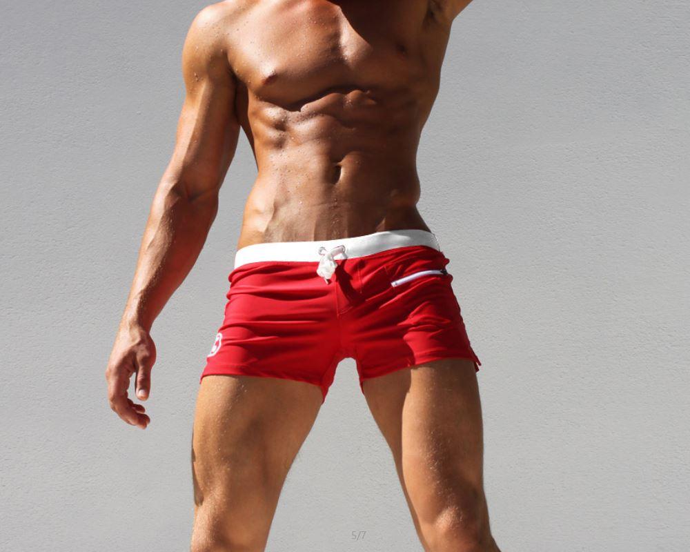 873a8a4faee 2018 Drawstring Men Swimwear Shorts Trunks Swimsuit Swim Bathing Suits  Sportswear Sports Large Size Beach Pool Wear Spandex Blue-in Men's Trunks  from Sports ...