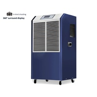 138L/day industrial dehumidifier Commercial intelligent dehumidifier for Basement / warehouse / workshop /engine room air dryer