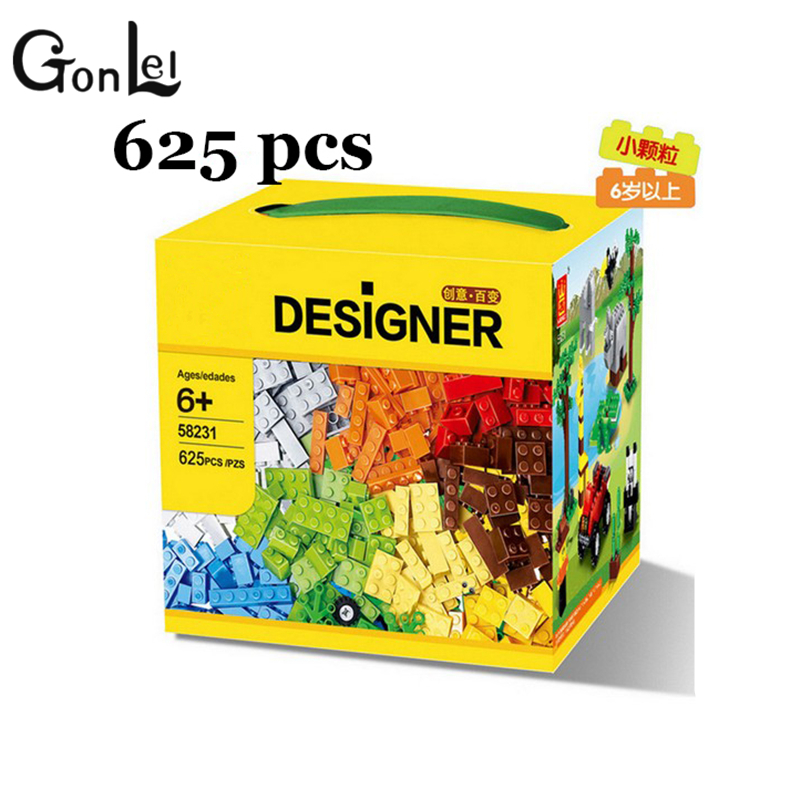GonLeI 625 Pcs Building Blocks City DIY Creative Bricks Toys For Child Educational Wange Bricks Christmas gift toy SA520 for nissan qashqai 2008 2009 2010 2011 2012 2013 car inner decoration trim