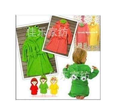 Children's cartoon style 100% cotton bathrobe modeling package is , pajamas