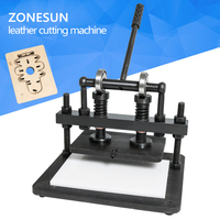 ZONESUN 2616cm DIY handbag Manual leather cutting machine photo paper PVC/EVA sheet mold cutter leather Die cutting tool Craft