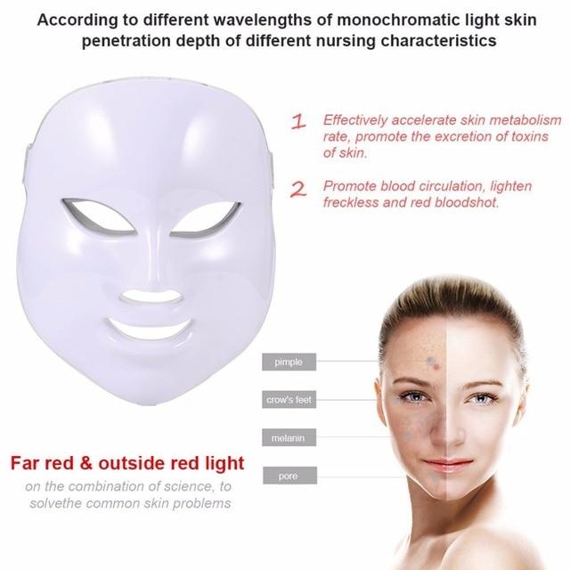Korean Photodynamic LED Facial Mask Home Use Beauty Instrument Anti Acne Skin Rejuvenation LED Photodynamic Beauty Face Mask 1