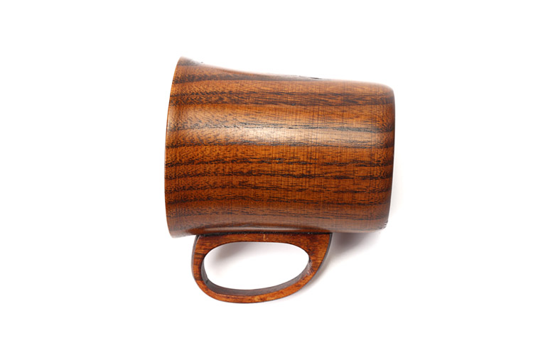 300ml Primitive Wooden Beer Mugs with Handle Natural Wood Mug Coffee Cup Tableware Kitchen Supply (2)