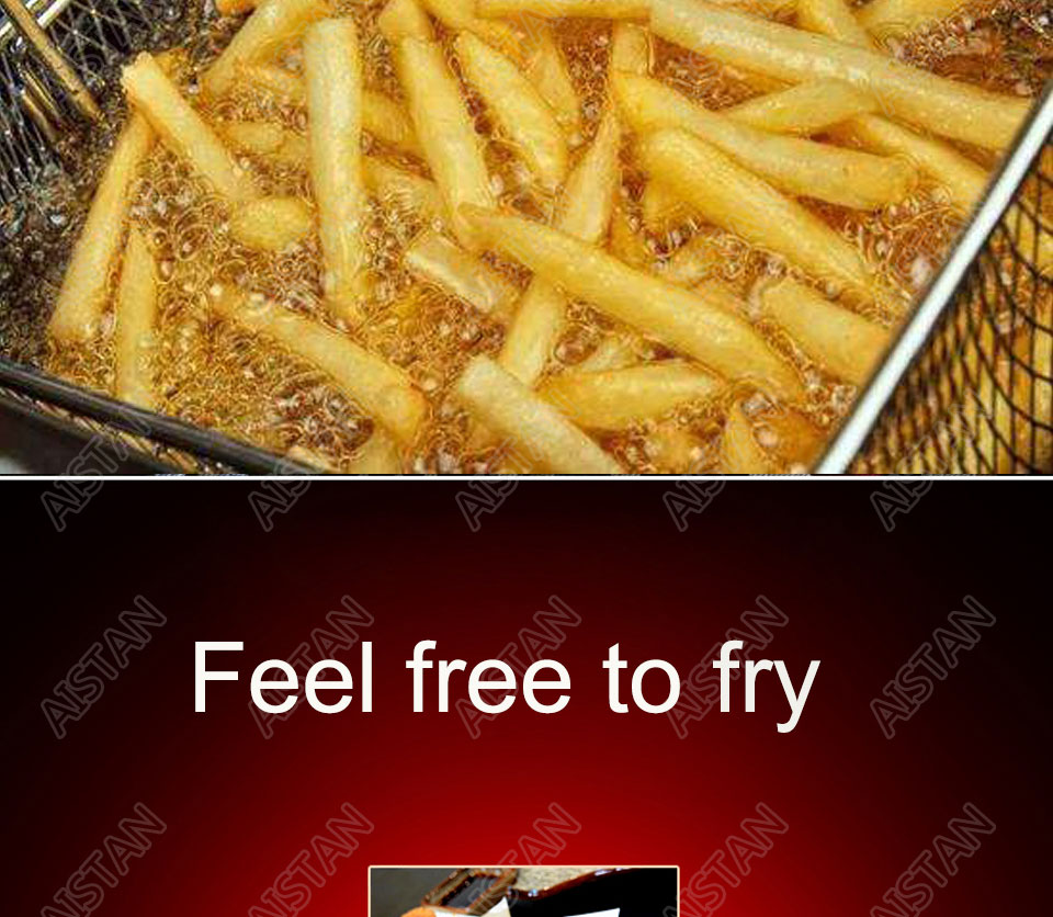 EF101V stainless steel electric deep fryer fried chicken fried potato chips for kitchen appliance 4
