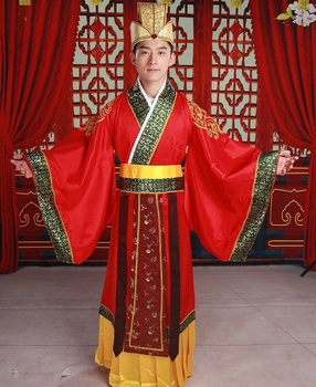 ZZB008 Hanfu Chinese costume male robes Emperor Hanfu Prince costumes Tang Suit Hanfu Stage Show