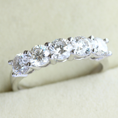 14K 585 White Gold 1.25CT Diamond Engagement Ring