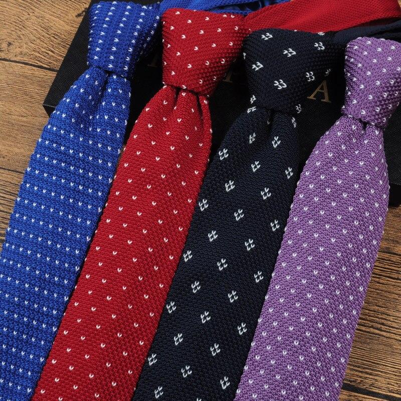 6cm Knit Tie Flat-neck Narrow Version  Black Fine Necktie Gifts For Men Ties Designers Fashion Wedding Prom Daily Wear Slim Tie